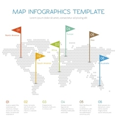 World map of hexagon internet infographic vector