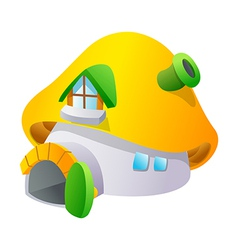 Icon mushroom and house vector