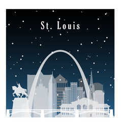 nightlife and starry sky in st louis vector image