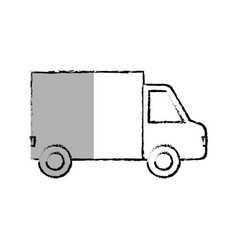 Truck vehicle isolated icon vector