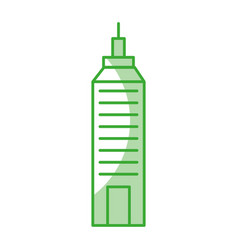 Urban building tower vector
