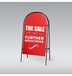 Sandwich board with an inscription the sale vector