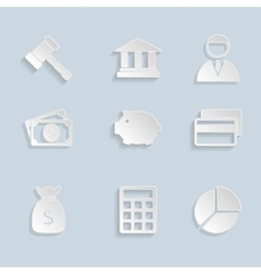 Business Paper Icons Set vector image