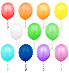 Colored balloons singles vector