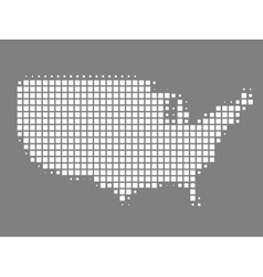 Map of United States made of squares vector image