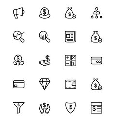 Business and finance line icons 7 vector