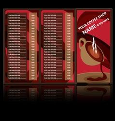 drink menu vector image