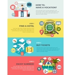 Vocation summer travel infographic summer vector