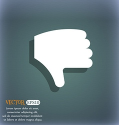 Dislike thumb down hand finger down icon symbol on vector
