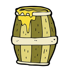 Comic cartoon barrel vector