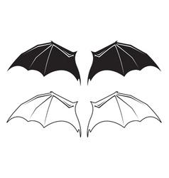 Bat wngs vector