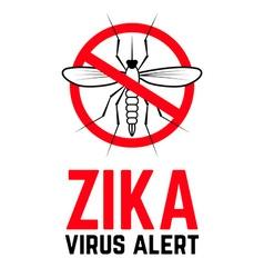 Zika virus alert vector image