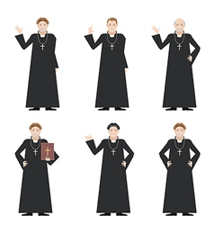Cardinal - catholic priest vector