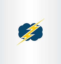 Storm thunder cloud icon symbol vector