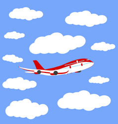 airplane in the sky icon vector image