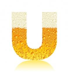 alphabet beer u vector image vector image