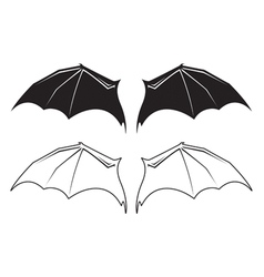 bat wngs vector image