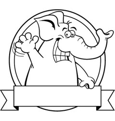 Cartoon elephant with a banner vector image