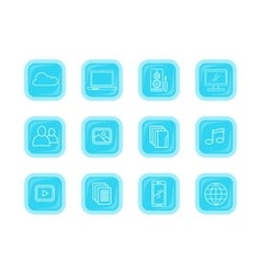 Collection icons of modern computer web buttons vector