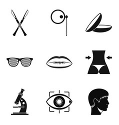corpus icons set simple style vector image
