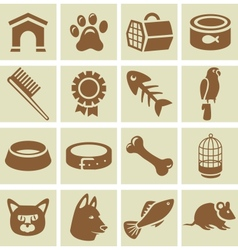design elements for veterinary vector image vector image