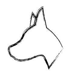 Dog shape icon image vector