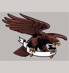 Eagle hold the ribbon vector