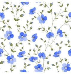 Field flowers wallpaper vector
