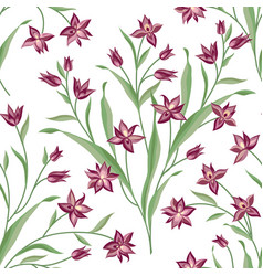 floral seamless pattern flower background floral vector image