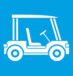 Golf club vehicle icon white vector