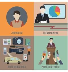 Journalist vector