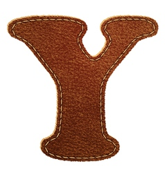 Leather textured letter y vector