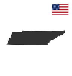 map of the us state of tennessee vector image vector image
