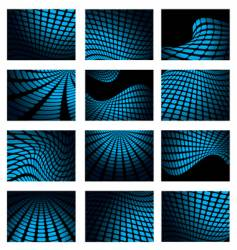 mesh blue collection vector image vector image