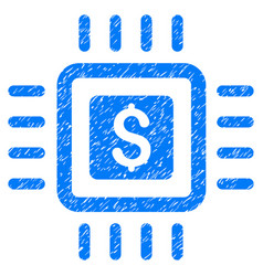 Processor price grunge icon vector