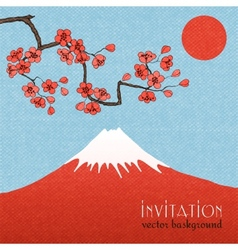 Sakura invitation card background or poster vector image vector image