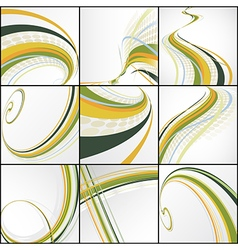 set of abstract lines vector image vector image