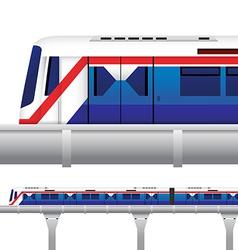 Sky Train in Bangkok Thailand vector image
