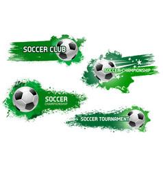 Soccer ball flying with star for football design vector