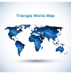Triangle world map vector