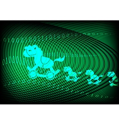 Trojan horse technology green background vector