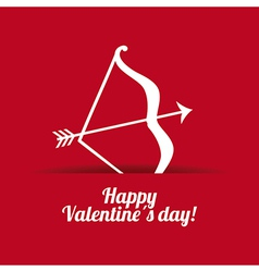 Valentines day over red background vector