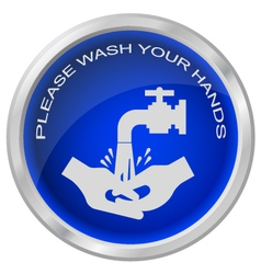 Wash hands vector