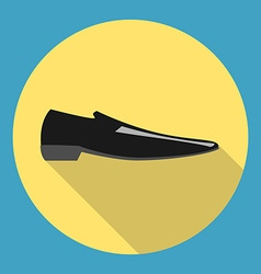 Classic black man shoe vector