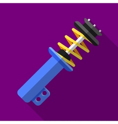 Colorful shock absorber icon in modern flat style vector image