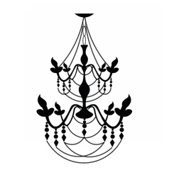 Vintage classic chandelier on white vector