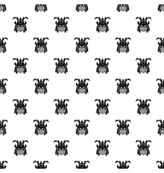 Japanese samurai mask pattern simple style vector