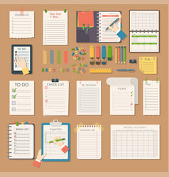 Open notebooks clean pages diary template booklet vector