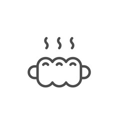 Sausage in dough line icon vector