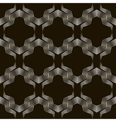 Seamless geometric ornament pattern Stylish vector image